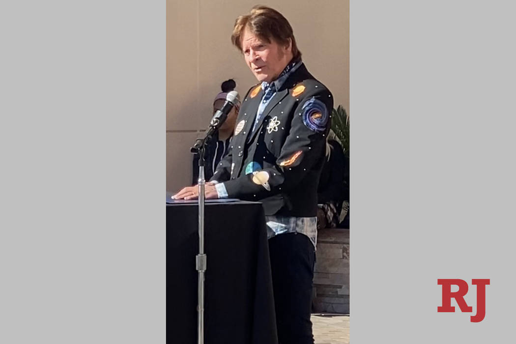 John Fogerty is shown at Veterans Village No. 2, where he dedicated a new affordable-housing re ...