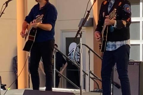 John Fogerty and his son Shane perform at Veterans Village No. 2, where Fogerty dedicated a new ...