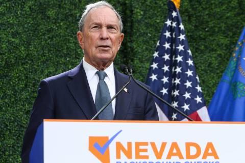 Michael Bloomberg. (Caroline Brehman/Las Vegas Review-Journal) @carolinebrehman