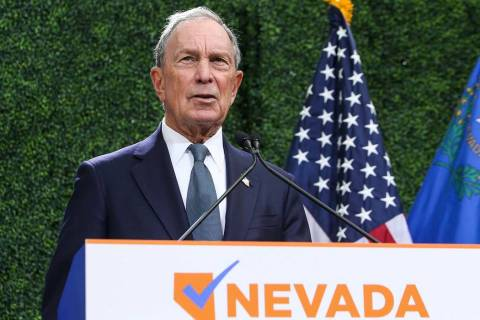Michael Bloomberg. (Caroline Brehman/Las Vegas Review-Journal) @carolinebrehman