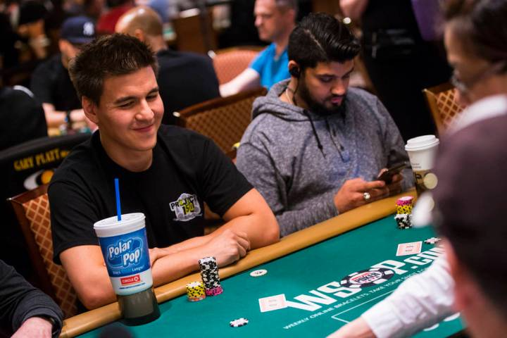 """Las Vegas resident and """"Jeopardy!"""" sensation James Holzhauer competes in the $1,500 b ..."""