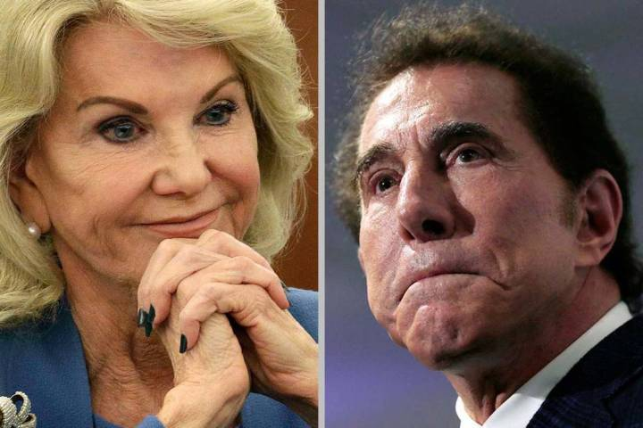 Elaine Wynn and Steve Wynn (AP file photos)