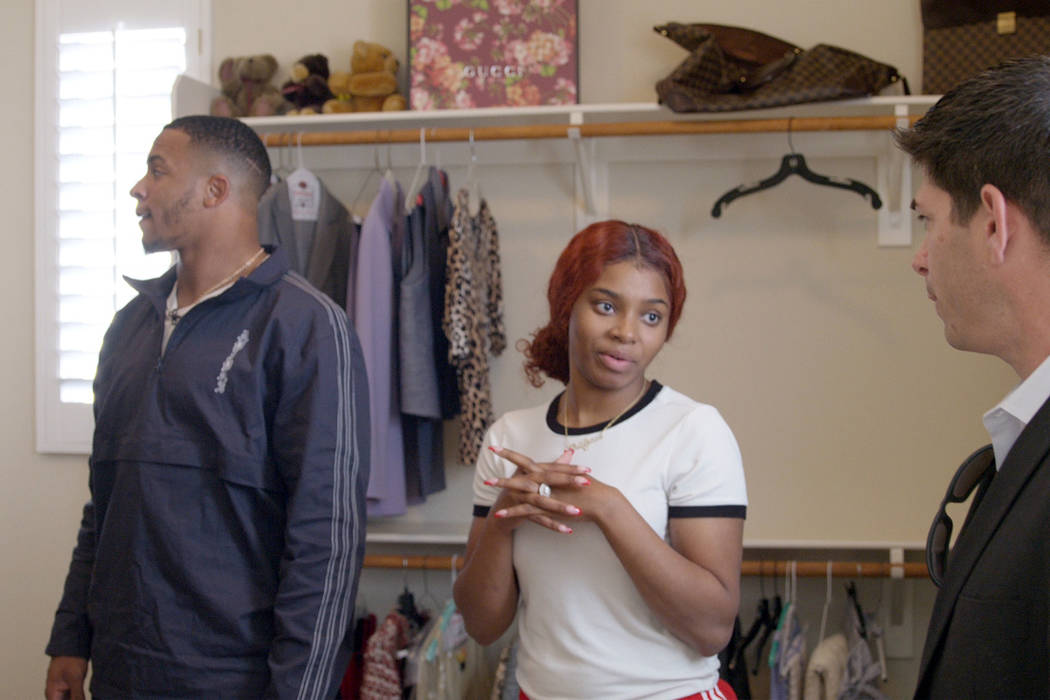 Raiders rookie safety Johnathan Abram and his wife Bri'Anna, shop for a new home in the Las V ...