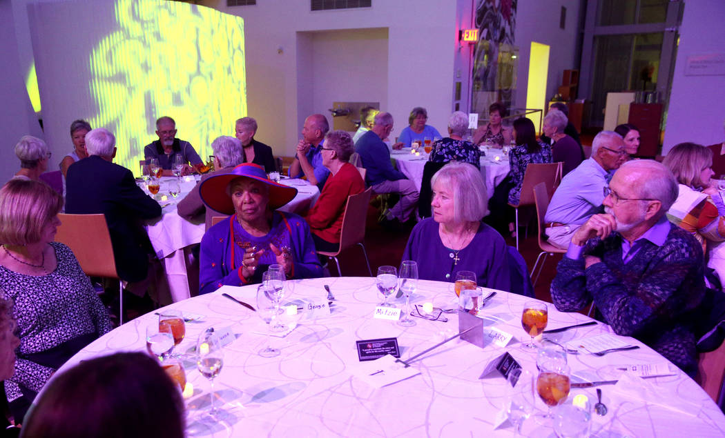 Donna Perkins, from left, Georgie Rucker, Mitzie Hiegel, 67, and Larry McAlister, 80, all of La ...