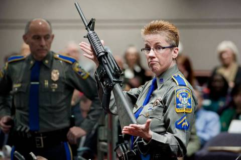 In a Jan. 28, 2013, file photo, firearms training unit Detective Barbara J. Mattson, of the Con ...