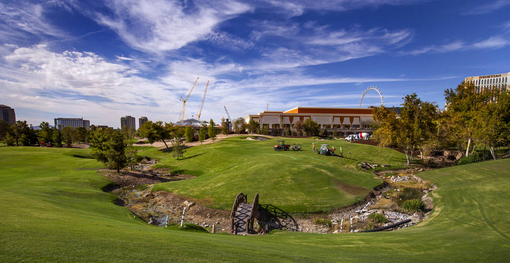Wynn Golf Club is pictured on Tuesday, July 30, 2019, in Las Vegas. The newly designed 18-hole ...