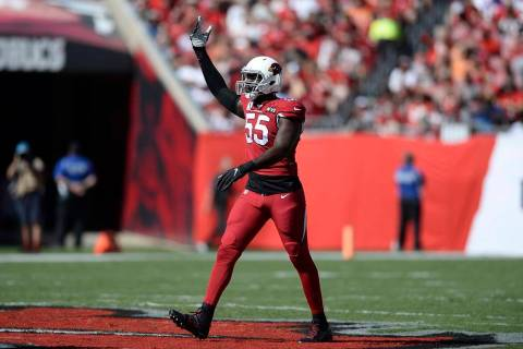 Arizona Cardinals linebacker Chandler Jones (55) during the first half of an NFL football game ...