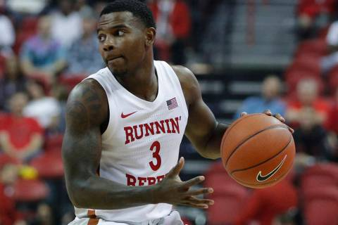 UNLV's Amauri Hardy (3) plays against Kansas State in an NCAA college basketball game Saturday, ...