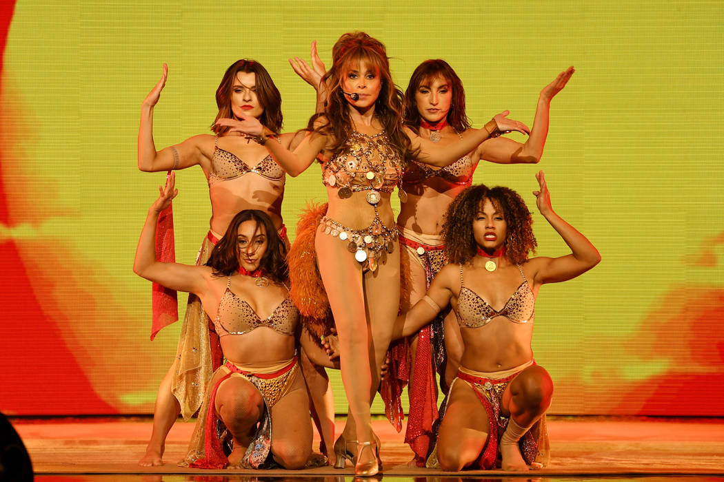 """Paula Abdul performs during the official opening of her headlining residency show, """"Paula ..."""