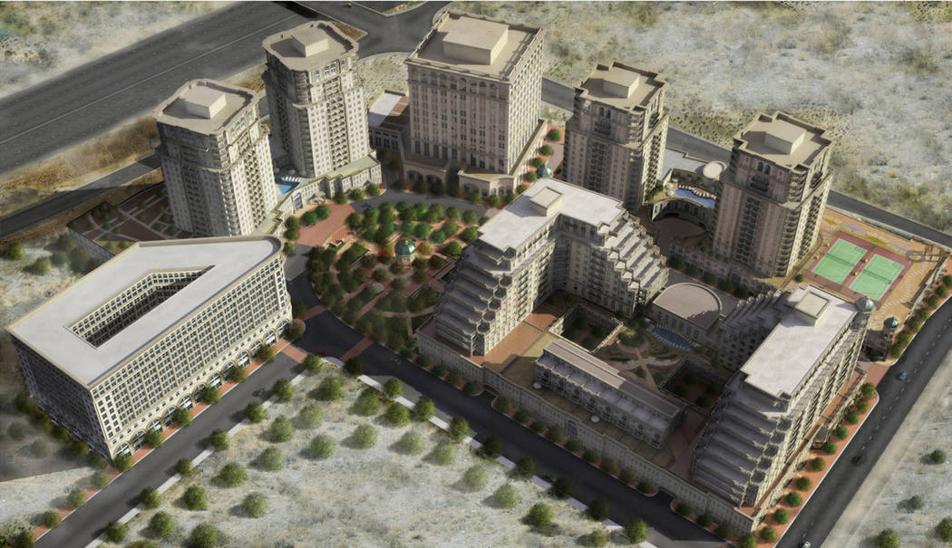 A rendering of Sullivan Square, which was a proposed high-rise project in Las Vegas that was ne ...