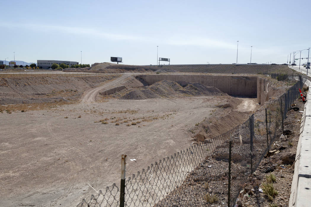 Vacant land at the southeast corner of Sunset Road and Durango Drive in Las Vegas, Thursday, No ...