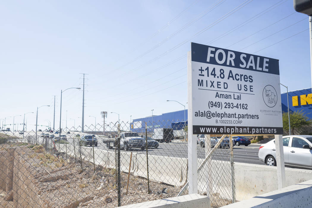 A sign advertising vacant land at the southeast corner of Sunset Road and Durango Drive in Las ...