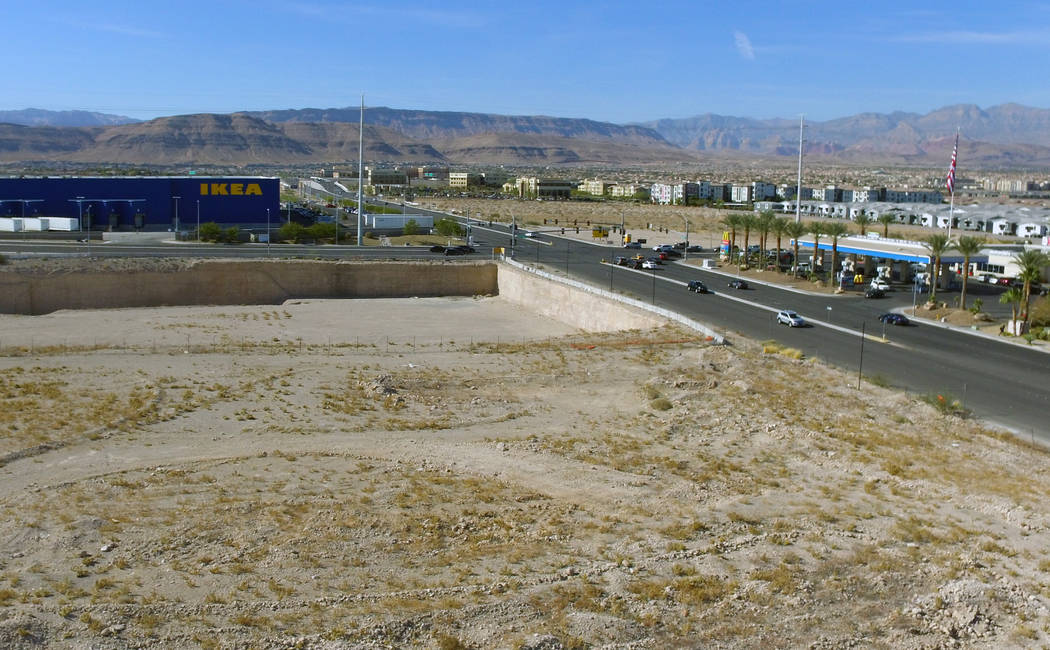 The former Sullivan Square site at the southeast corner of Sunset Road and Durango Drive, acros ...