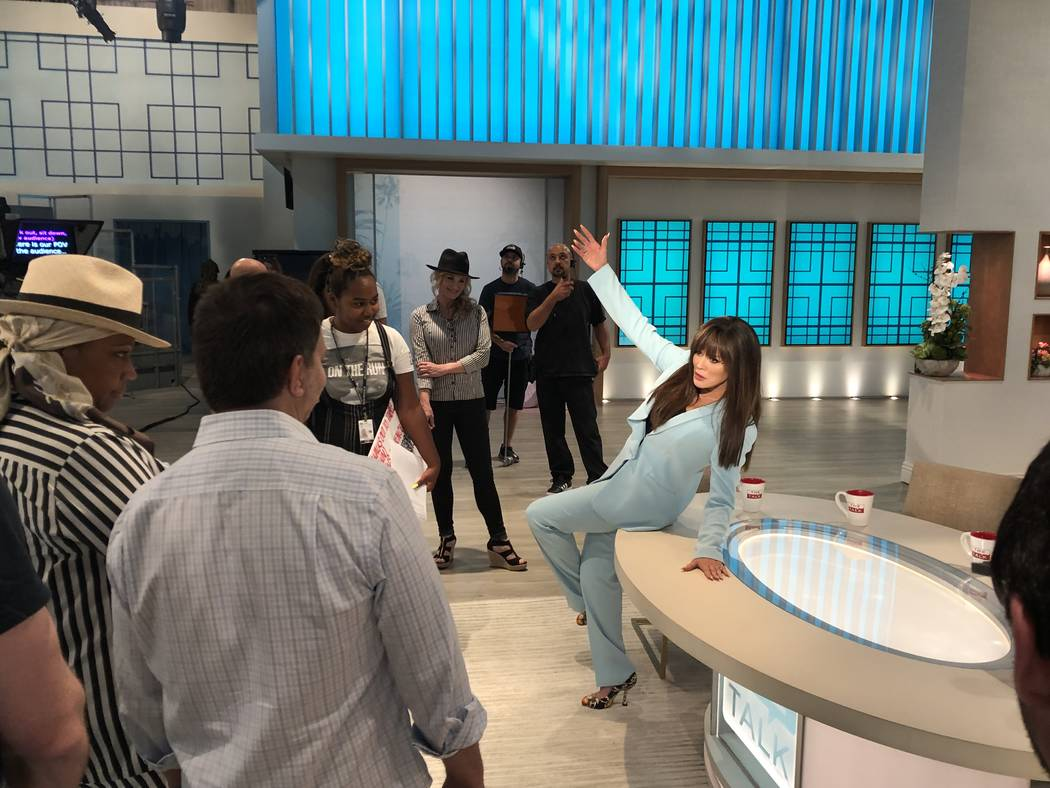 """Marie Osmond is shown joking with the staff on the CBS daytime show """"The Talk,"""" on Wednesday, S ..."""