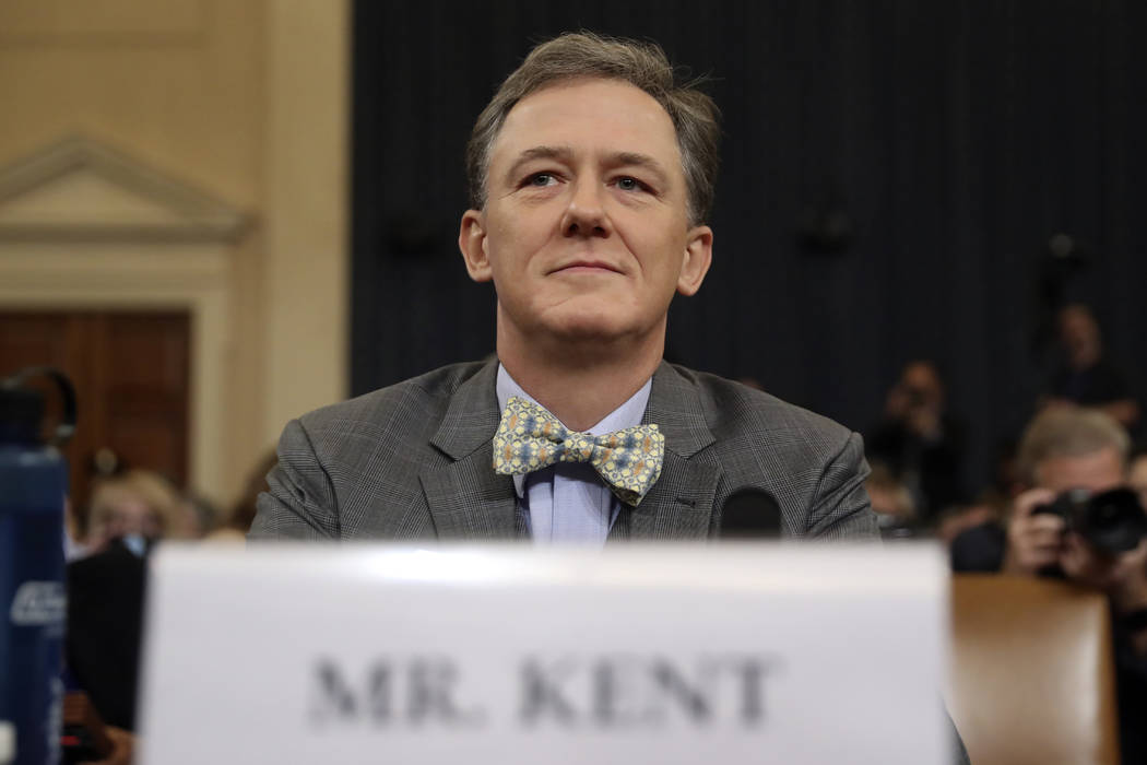 Career Foreign Service officer George Kent, waits to testify before the House Intelligence Comm ...