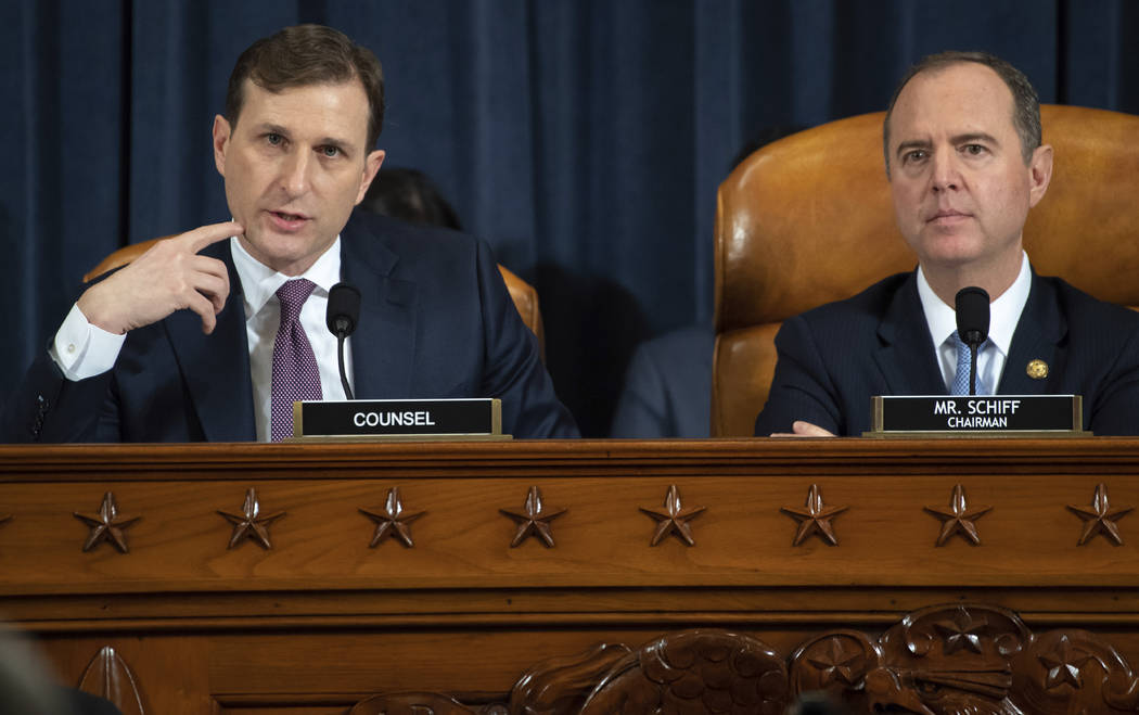 Daniel Goldman, director of investigations for the House Intelligence Committee majority staff, ...