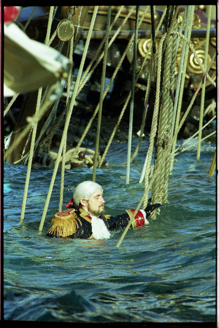 """Mark Steelsmith, who performed as the captain in """"Battle of Buccaneer Bay,"""" routinely went down ..."""