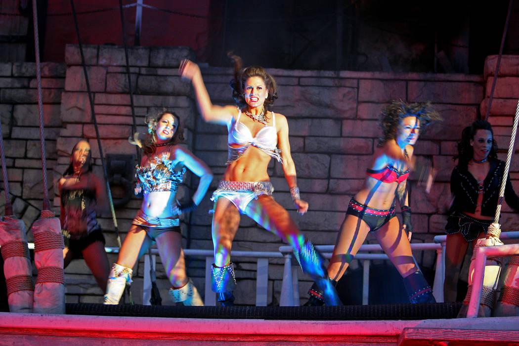 "Performers rock ""The Sirens of TI"" at Treasure Island Hotel & Casino March 29, 2011. (Las Vegas ..."