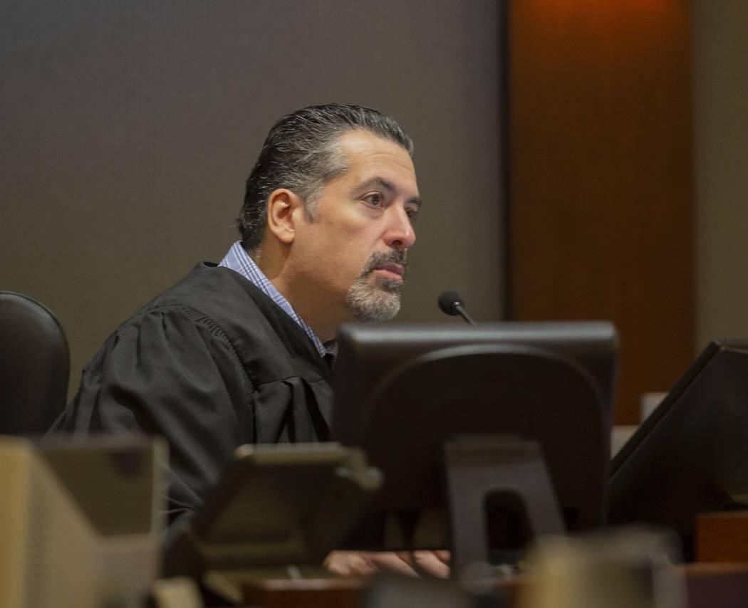 Justice of the Peace Joe Bonaventure speaks during the court appearance for Casandra Garrett, t ...