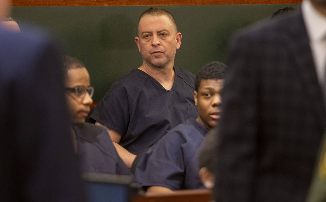 Christopher Prestipino appears in court during a hearing at the Regional Justice Center in Las ...