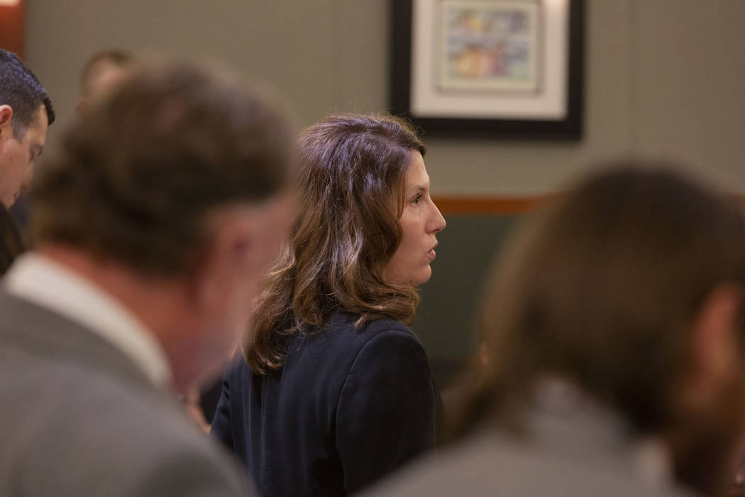 Prosecutor Pamela Weckerly speaks during a hearing of Christopher Prestipino at the Regional Ju ...