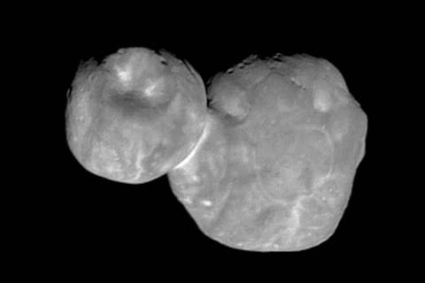A Tuesday, Jan. 1, 2019, image made available by NASA shows the Kuiper belt object originally c ...
