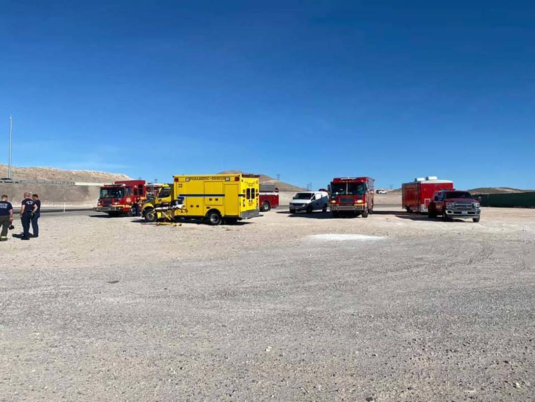 "Southern Nevada firefighters Investigate a possible hazardous materials ""incident"" causing ..."