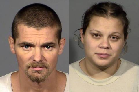 Randall Cooper, left, and Marissa Diaz (Las Vegas police)