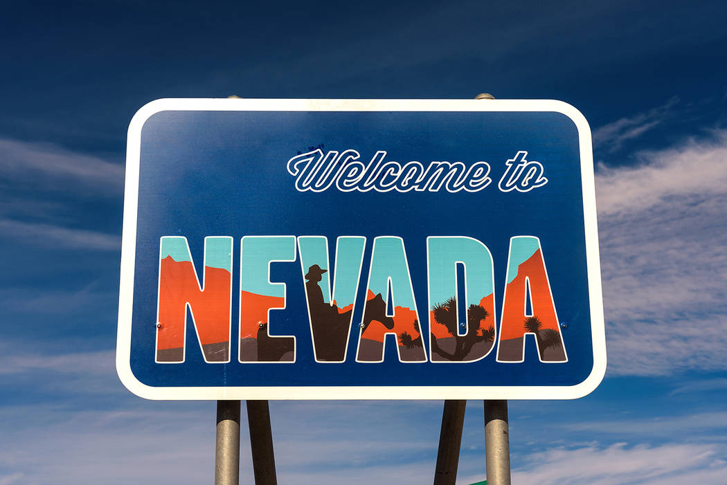 Welcome to Nevada road sign along State Route 373 near Death Valley (Getty Images)