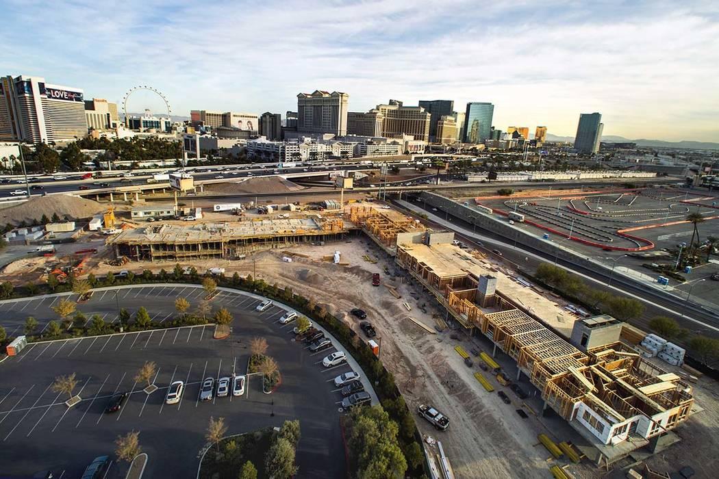 Upscale apartments under construction near Las Vegas Strip ...