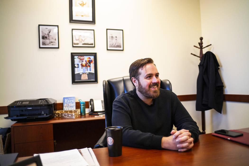 West Wendover Mayor Daniel Corona speaks in his office at West Wendover City Hall on Wednesday, ...