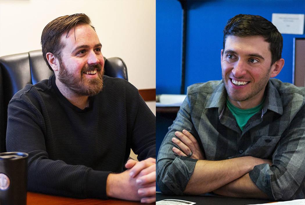 West Wendover Mayor Daniel Corona, left, and Ely Mayor Nathan Robertson (Las Vegas Review-Journal)