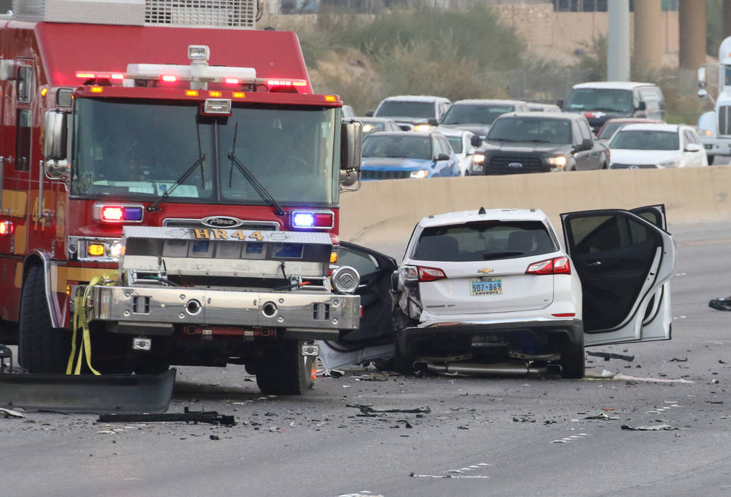 The Nevada Highway Patrol is investigating after a suspected drunk driver traveling the wrong w ...