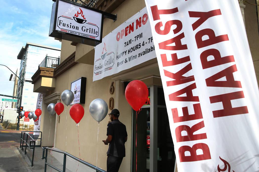 New restaurant Fusion Grille, 603 Las Vegas Blvd. South, in Las Vegas, Thursday, Nov. 14, 2019 ...