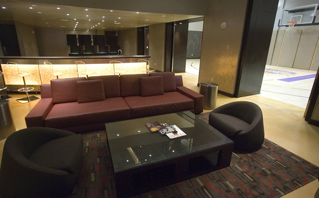 The Palms' Hardwood Suite, shown in October 2006, featured a basketball court (seen at right). ...