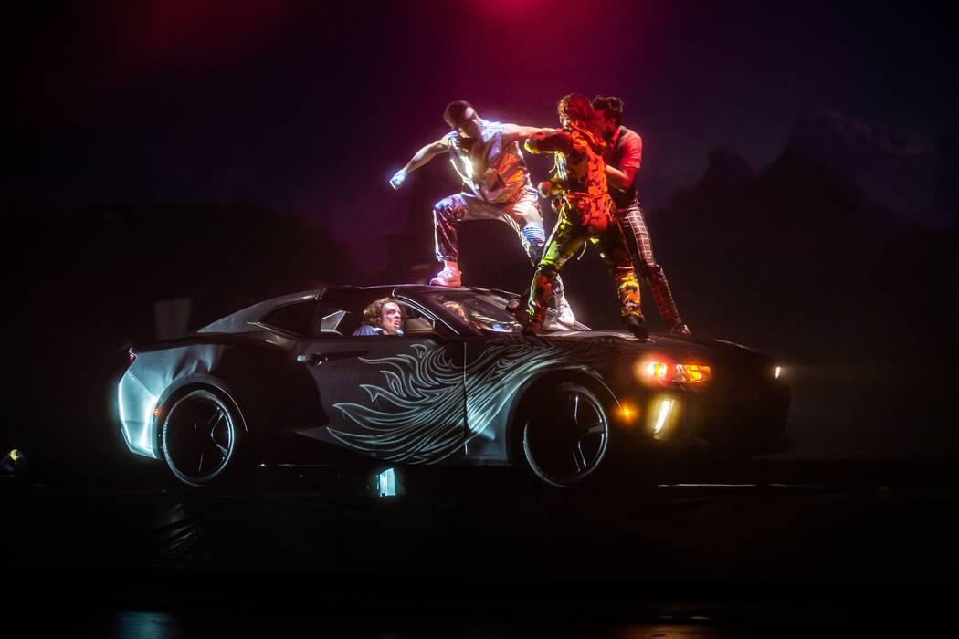 "Cirque du Soleil's latest Las Vegas Strip production, ""R.U.N"", has opened at Luxor. (Matt Beard)"
