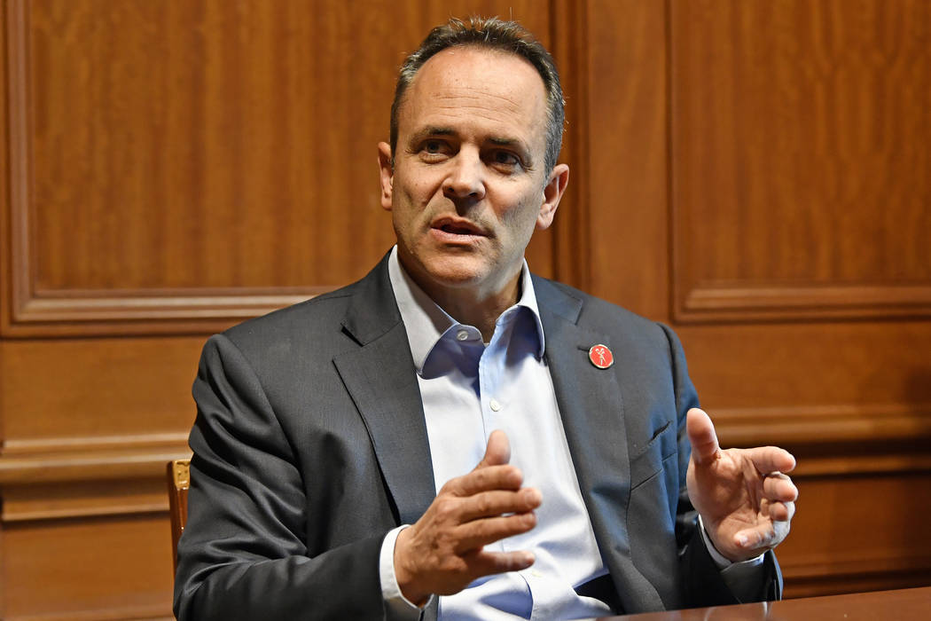 Kentucky Governor Matt Bevin discusses the upcoming recanvass of the Governor's race in Frankfo ...