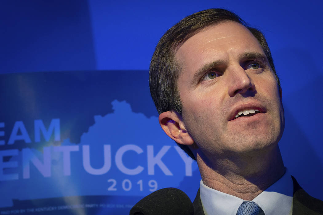 FILE - In this Nov. 5, 2019, file photo, Democratic gubernatorial candidate and Kentucky Attorn ...