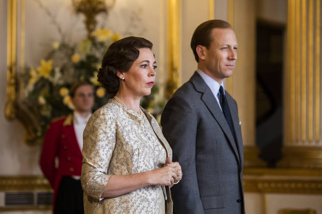 "Olivia Colman and Tobias Menzies in ""The Crown"" (Sophie Mutevelian/Netflix)"