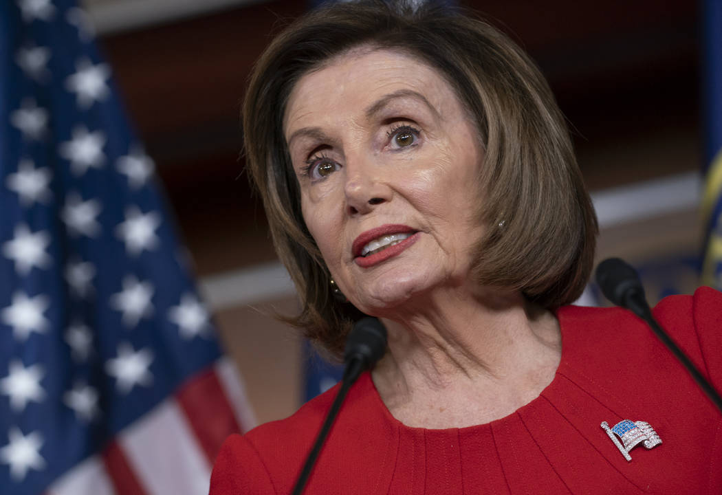Speaker of the House Nancy Pelosi, D-Calif., talks to reporters on the morning after the first ...