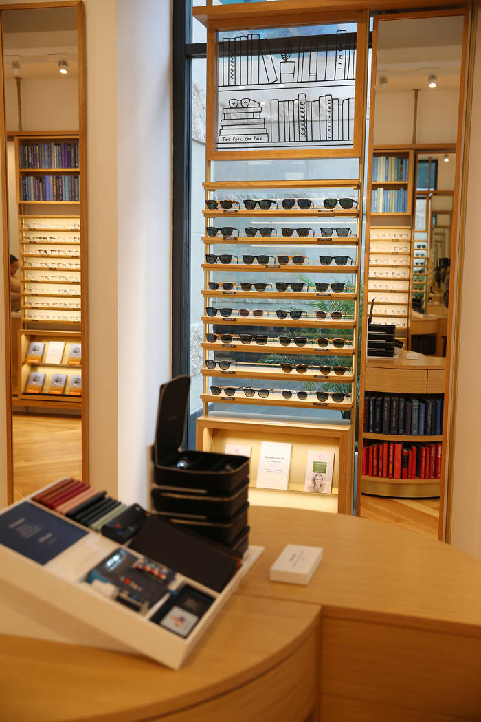 Inside the new Warby Parker store in Downtown Summerlin in Las Vegas, Thursday, Nov. 14, 2019. ...