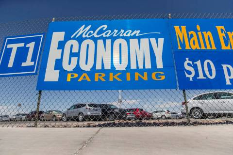 The Economy Parking Lot at McCarran International Airport on Thursday, June 28, 2018, in Las Ve ...