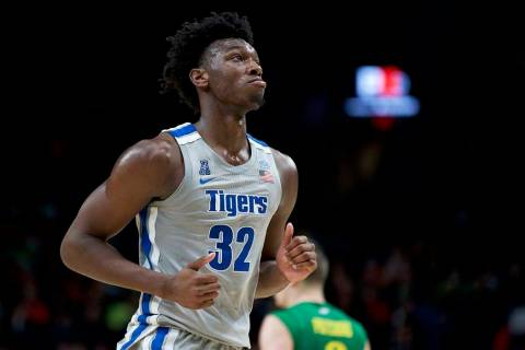 Memphis center James Wiseman runs off the court during the second half of an NCAA college baske ...