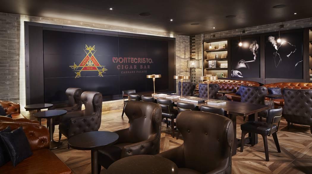Montecristo Cigar Bar at Caesars Palace offers 247 types and sizes of smokes. (Montecristo Ciga ...