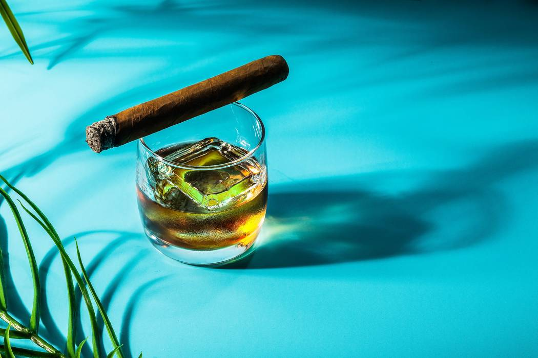 Rhumbar at The Mirage is dedicated to perfectly pairing that spirit with a great smoke. (Anthon ...
