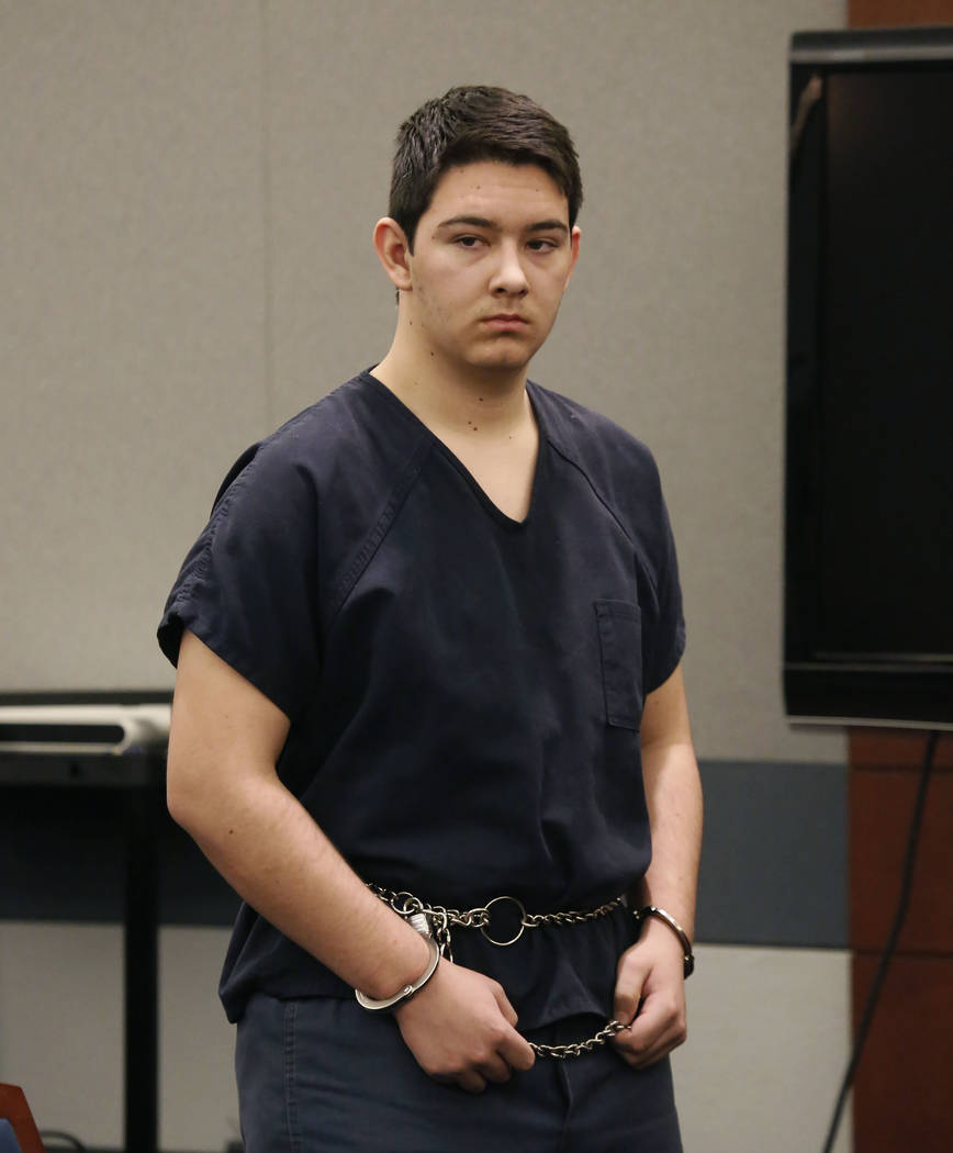 Maysen Melton, a 16-year-old accused of raping classmates, appears in court during his bail hea ...