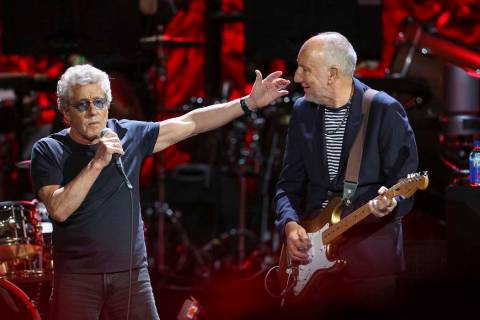 Roger Daltrey and Pete Townshend with The Who performs during the Moving On! Tour at State Farm ...