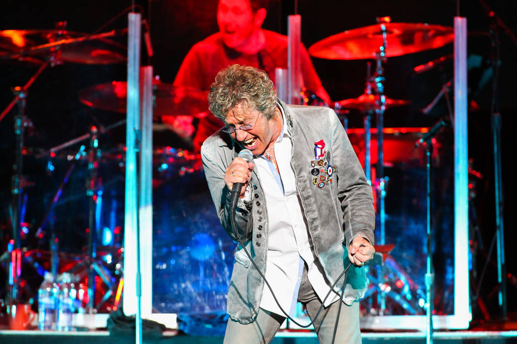 Vocalist Roger Daltrey of The Who performs at The Joint at the Hard Rock Hotel in Las Vegas on ...
