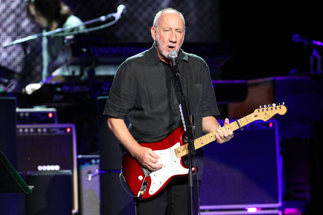 Guitarist Pete Townshend of The Who performs at The Joint at the Hard Rock Hotel in Las Vegas o ...