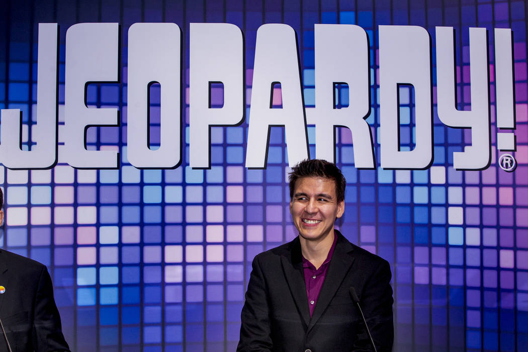 """""""Jeopardy!"""" champion James Holzhauer is shown during the Global Gaming Expo 2019 at the Sands E ..."""